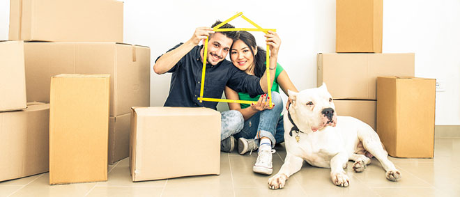 Conveyancing - Couple in new home